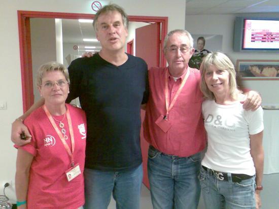 Avec le champion olympique Michel Bensoussan et Colette