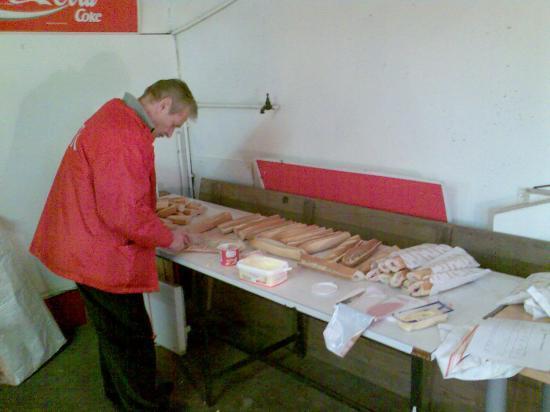 Préparation des sandwichs