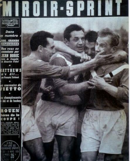 7 Mars 1954 FCR-Lille 2-0 1/8 de finale Coupe de France j'y était avec mon père