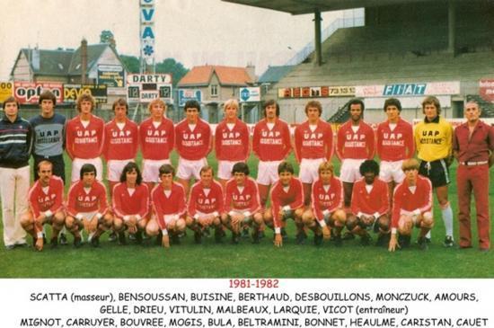 1981-1982 Montée en D 1